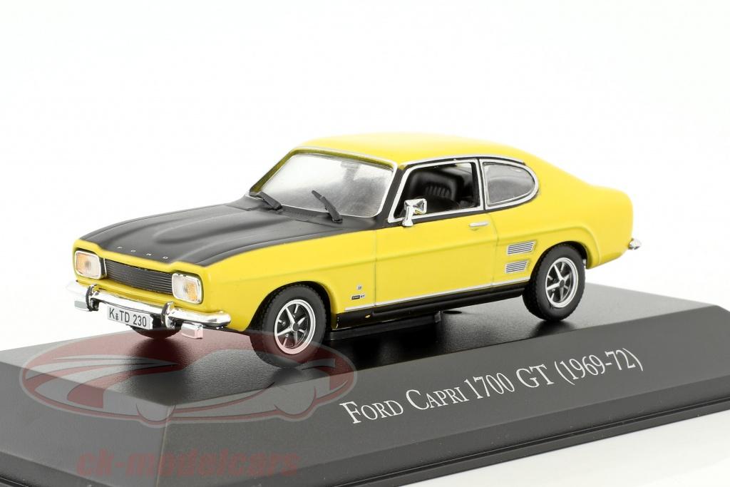 hachette-1-43-ford-capri-1700-gt-annee-de-construction-1969-1972-jaune-noir-ablta001-g1x78001/