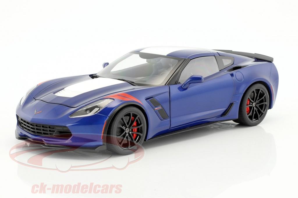 autoart-1-18-chevrolet-corvette-c7-grand-sport-annee-de-construction-2017-bleu-avec-blanc-rayures-71275/