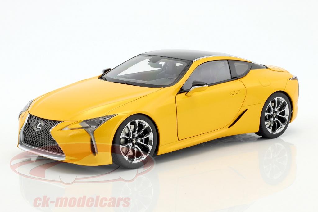 autoart-1-18-lexus-lc-500-yellow-metallic-78847/