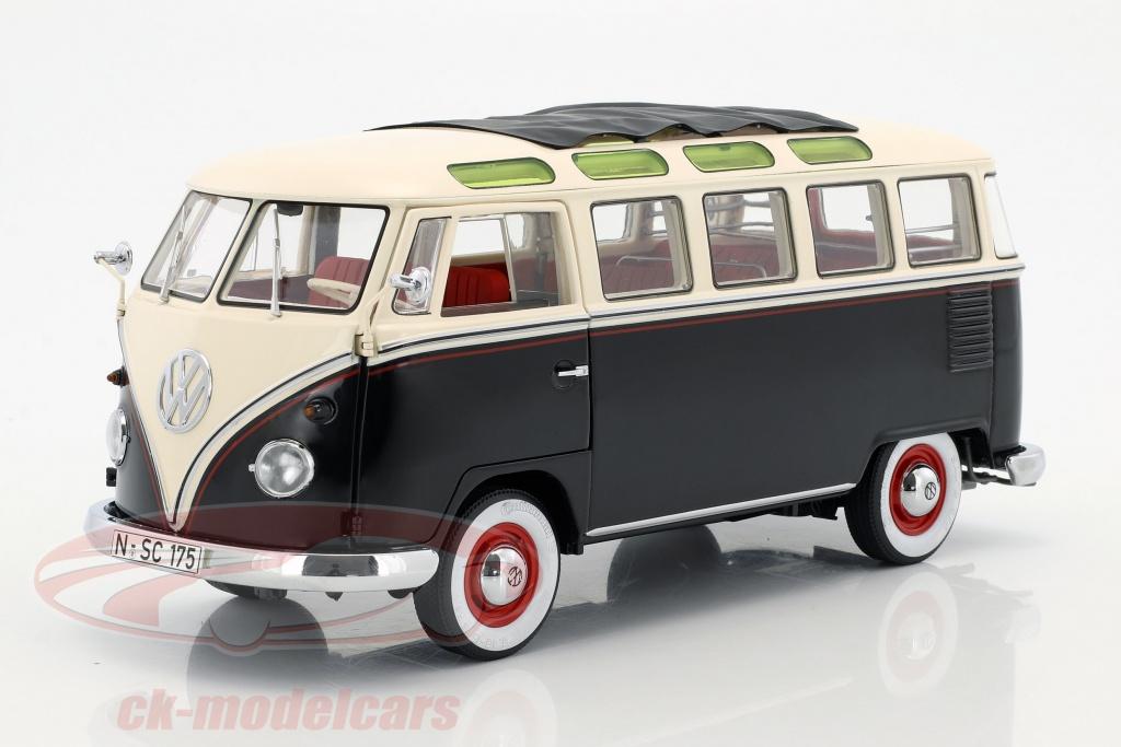 schuco-1-18-volkswagen-vw-t1-samba-bus-annee-de-construction-1959-1963-noir-blanc-450028700/