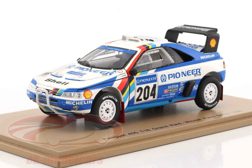spark-1-43-peugeot-405-t16-grand-raid-no204-winner-rallye-paris-dakar-1989-vatanen-berglund-s5616/
