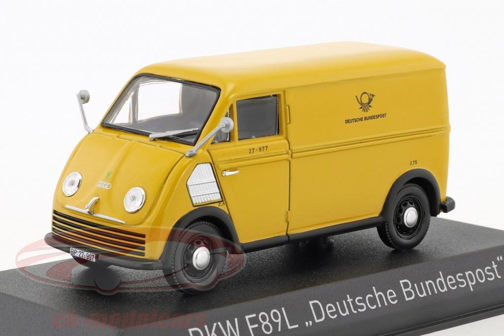 norev-1-43-dkw-f89l-deutsche-bundespost-year-1952-yellow-820302/