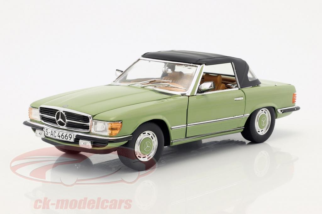 sun-star-models-1-18-mercedes-benz-350-sl-convertibile-closed-top-anno-di-costruzione-1977-verde-4669/