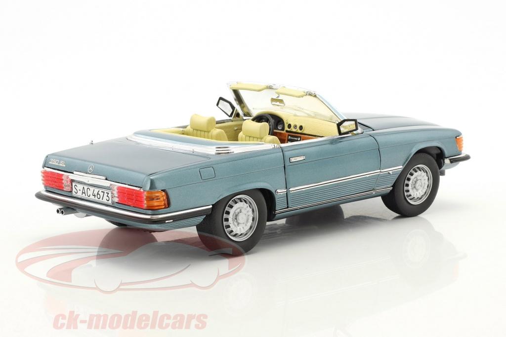 sun-star-models-1-18-mercedes-benz-350-sl-convertible-open-top-annee-de-construction-1977-bleu-clair-metallique-4673/