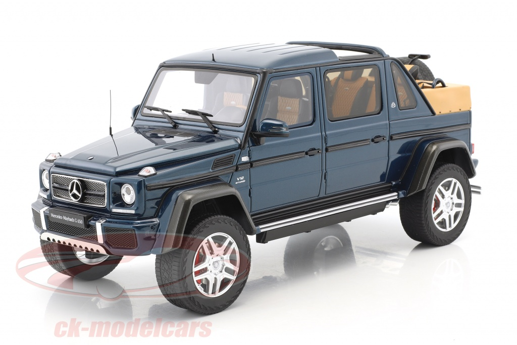 gt spirit 1 18 mercedes benz maybach g650 landaulet year 2017 blue metallic gt174 model car. Black Bedroom Furniture Sets. Home Design Ideas