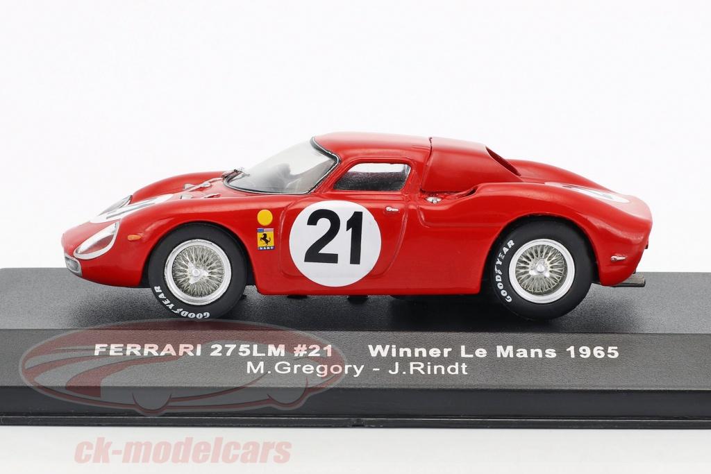 Rindt Winner 24h LeMans 1965 1:43 Ixo Ferrari 275 LM #21 Gregory