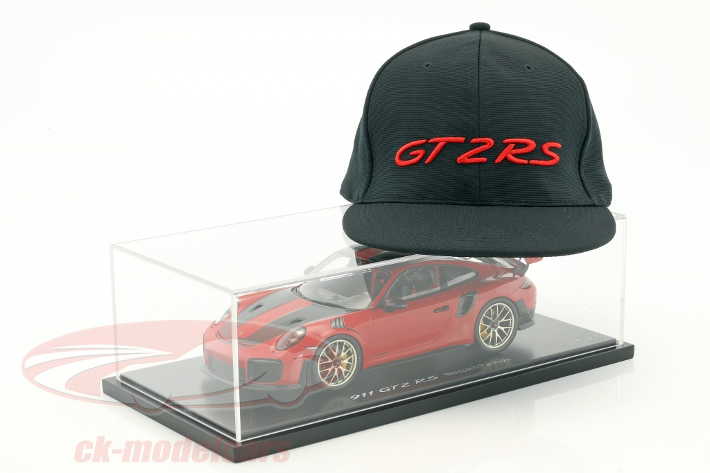 spark-1-18-porsche-911-991-ii-gt2-rs-weissach-package-guards-red-with-showcase-and-gt2-rs-cap-wax02100037/