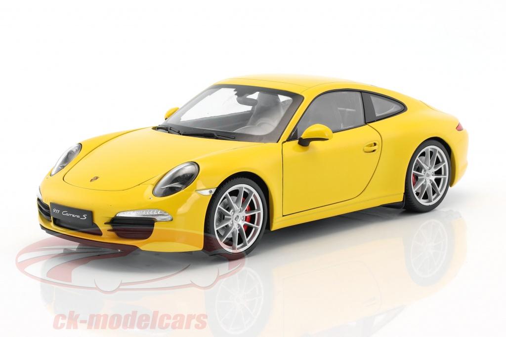 welly-1-18-porsche-911-991-carrera-s-bouwjaar-2015-racing-geel-map02109415/