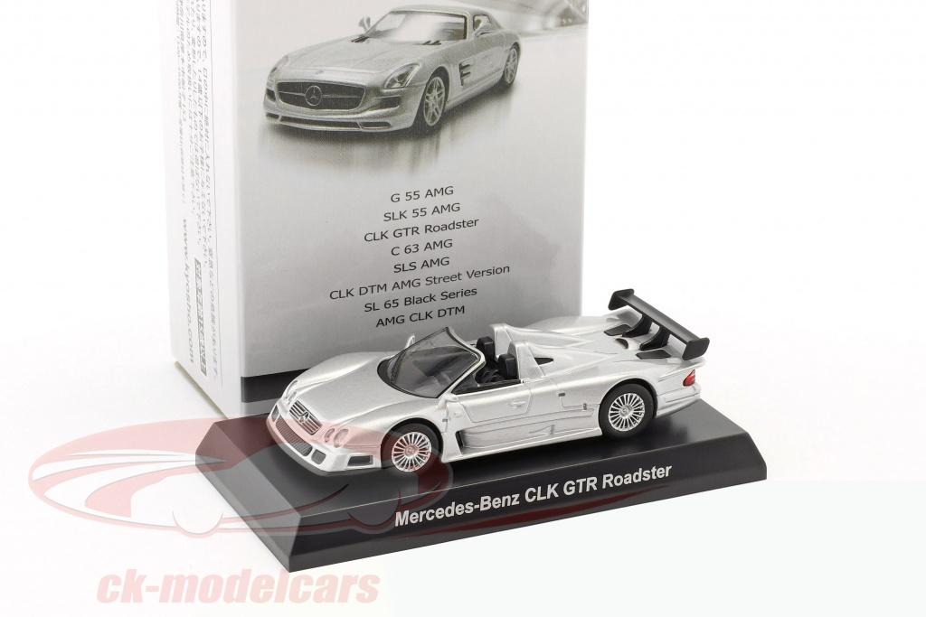 kyosho-1-64-mercedes-benz-clk-gtr-roadster-silver-ck45629/