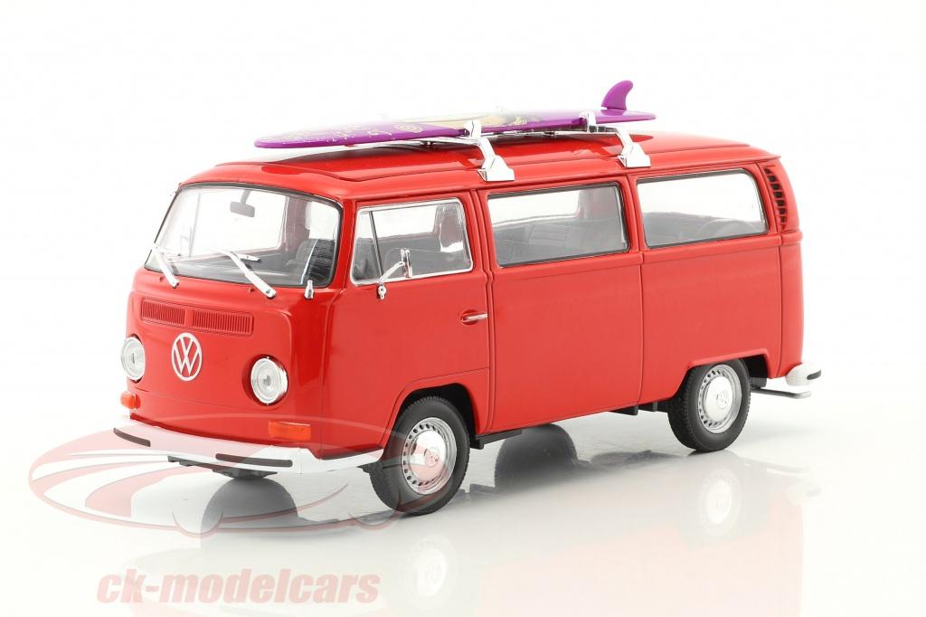 welly-1-24-volkswagen-vw-t2-bus-mit-surfbrett-baujahr-1972-rot-22472sbr/