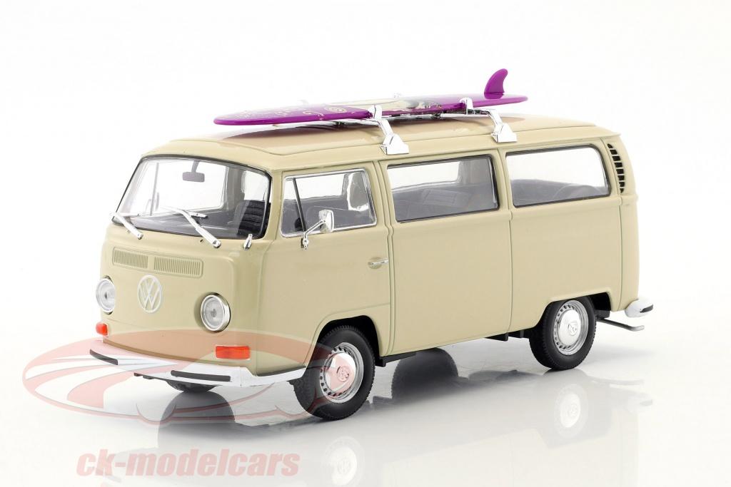 welly-1-24-volkswagen-vw-t2-bus-mit-surfbrett-baujahr-1972-creme-22472sbcr/