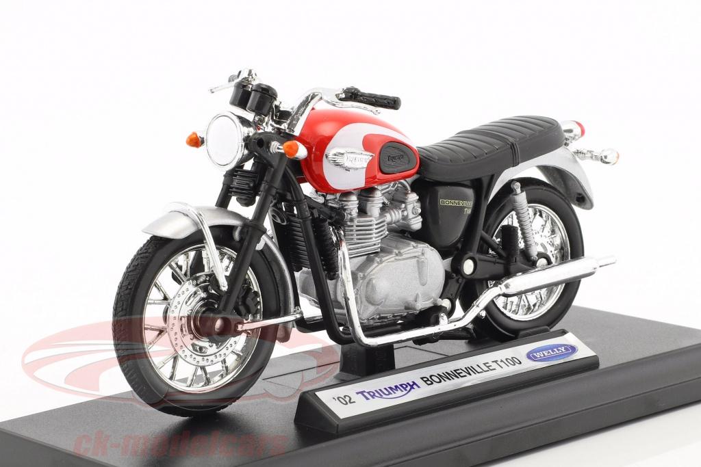 welly-1-18-triumph-bonneville-t100-bouwjaar-2002-rood-zilver-zwart-12172-tr19660pw/