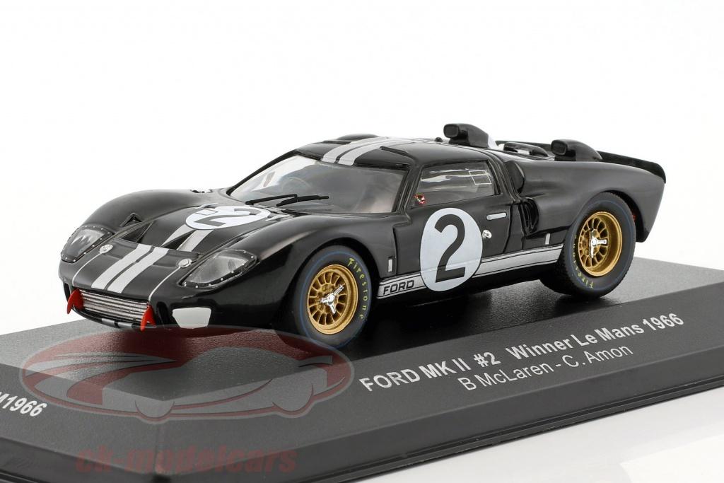 ixo-1-43-ford-mk-ii-no2-winner-24h-lemans-1966-mclaren-amon-lm1966/