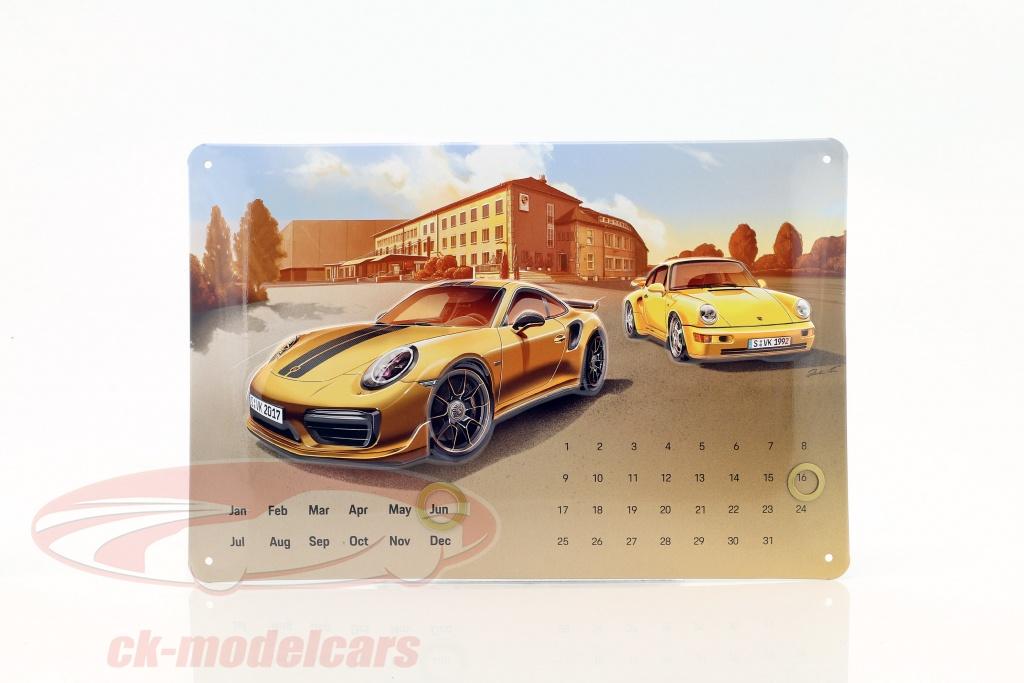 porsche-911-turbo-s-exclusive-calendario-annuale-blechschild-20-x-30-cm-wax05000007/