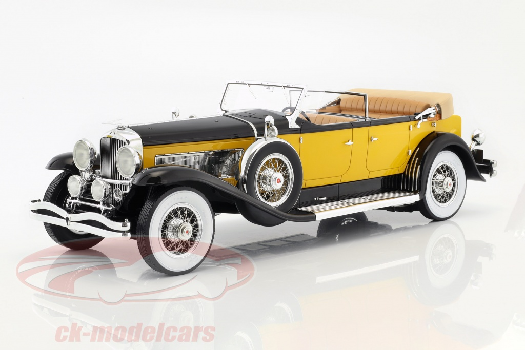 premium-classixxs-1-12-duesenberg-model-sj-tourster-derham-annee-de-construction-1932-jaune-orange-noir-pcl40065/