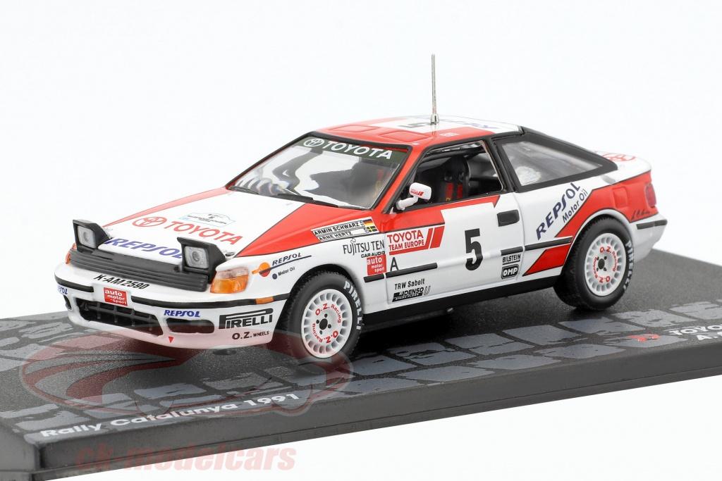 altaya-1-43-toyota-celica-gt-4-no5-winner-rallye-catalunya-1991-schwarz-hertz-mag-kd117/