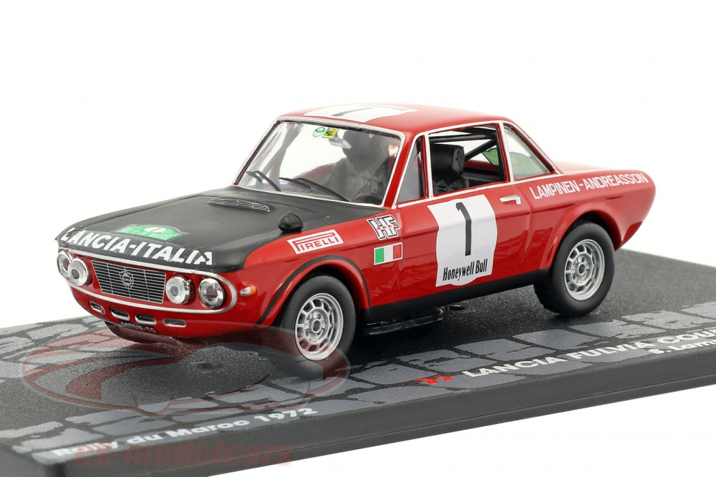 altaya-1-43-lancia-fulvia-coupe-16-hf-no1-winner-rallye-du-maroc-1972-lampinen-andreasson-mag-kd119/