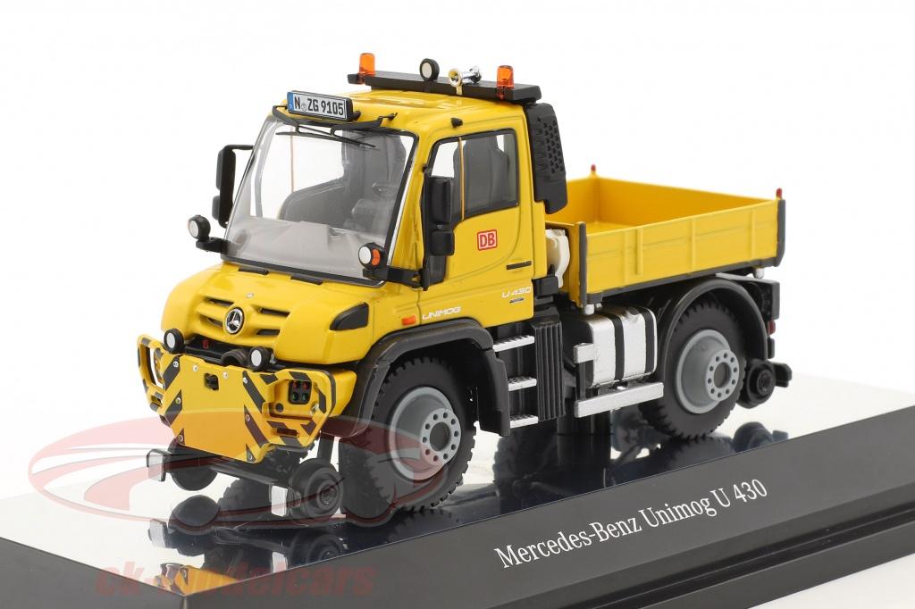 nzg-1-50-mercedes-benz-unimog-u-400-2-maniere-deutsche-bahn-jaune-9105/