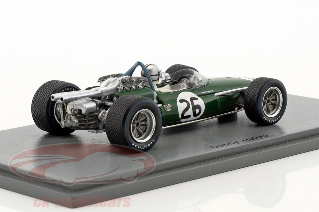 spark 1 43 denis hulme brabham bt19 26 champion du monde belgique gp formule 1 1967 s5254. Black Bedroom Furniture Sets. Home Design Ideas