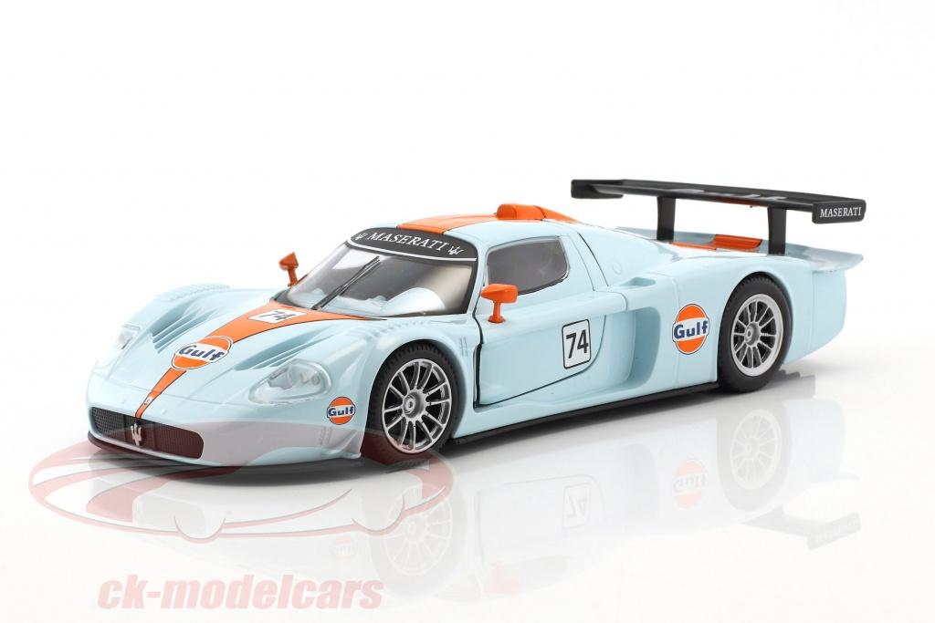 motormax-1-24-maserati-mc12-corsa-no74-gulf-blu-arancione-79643/