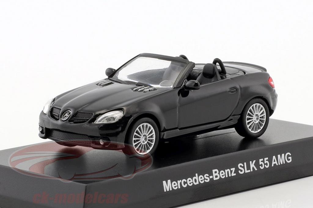 kyosho-1-64-mercedes-benz-slk-55-amg-cabriolet-black-ck46128/