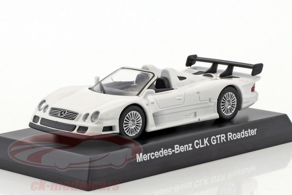 kyosho-1-64-mercedes-benz-clk-gtr-roadster-blanc-ck46116/