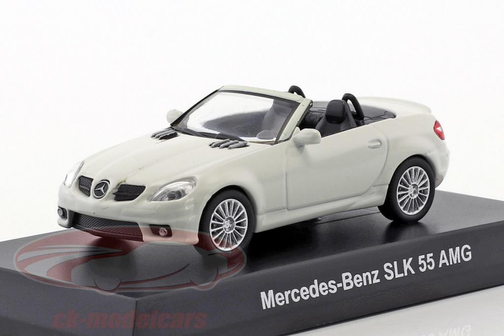 kyosho-1-64-mercedes-benz-slk-55-amg-cabriolet-bianco-ck46126/