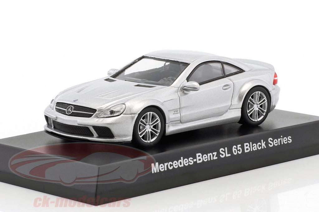 kyosho-1-64-mercedes-benz-sl-65-black-series-argento-metallico-ck46124/