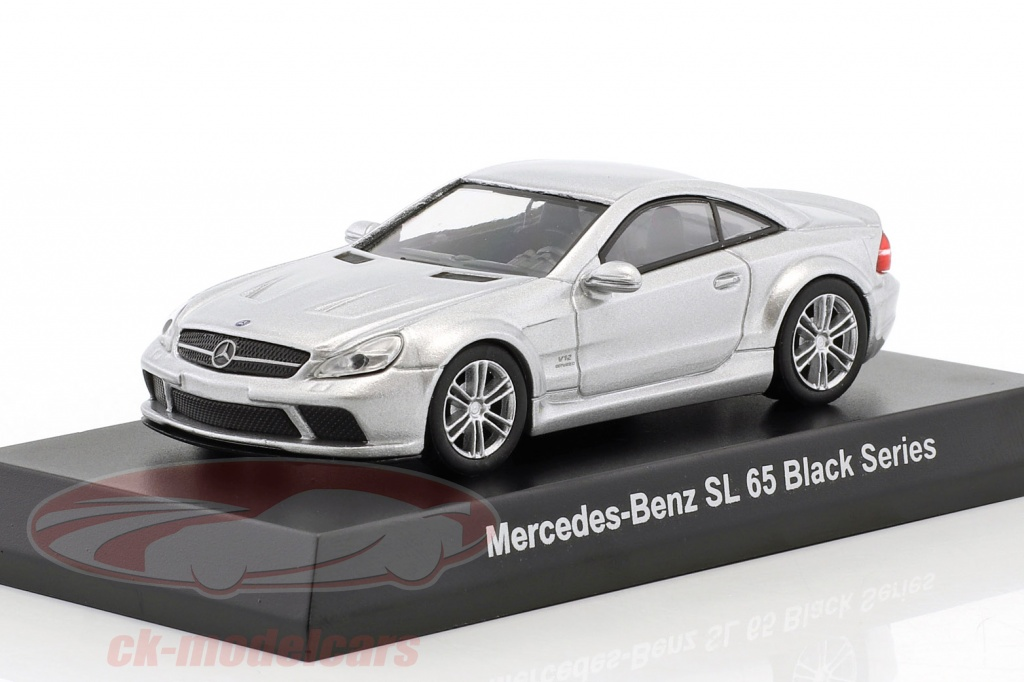 kyosho-1-64-mercedes-benz-sl-65-black-series-silver-metallic-ck46124/