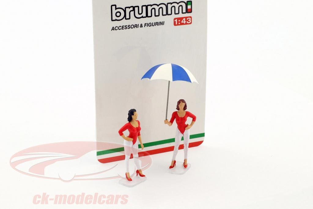 brumm-1-43-set-giacobazzi-girls-lambrusco-team-avec-bouclier-f097/