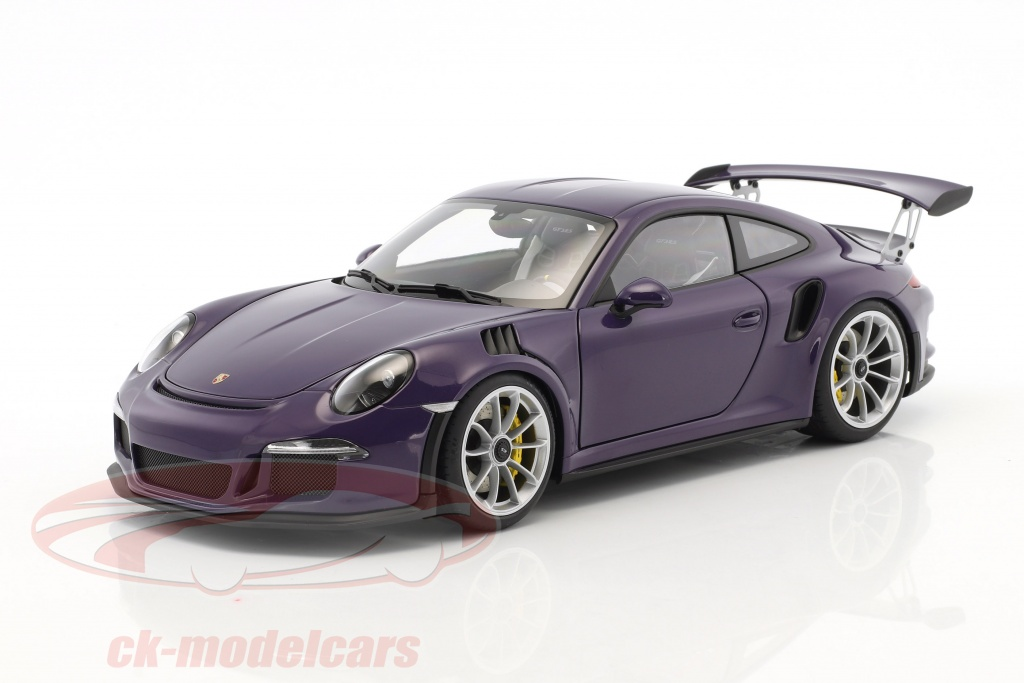 autoart-1-18-porsche-911-991-gt3-rs-11616year-2016-ultra-violet-with-silver-wheels-78169/