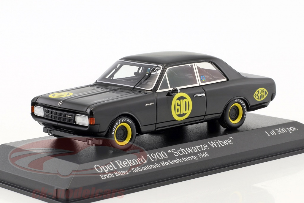 minichamps-1-43-opel-rekord-1900-black-widow-no610-season-finale-hockenheim-1968-erich-bitter-437684610/