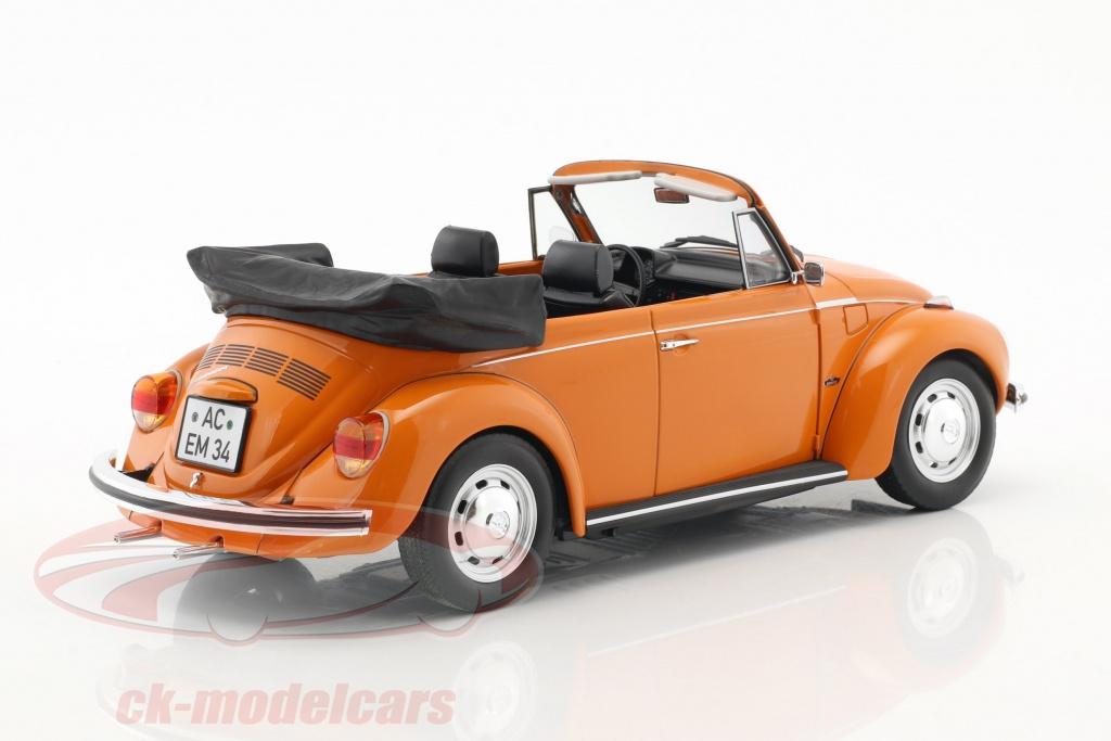 Norev 188521 1973 Volkswagen Beetle 1303 Cabriolet 1 18 Diecast Model Car Orange