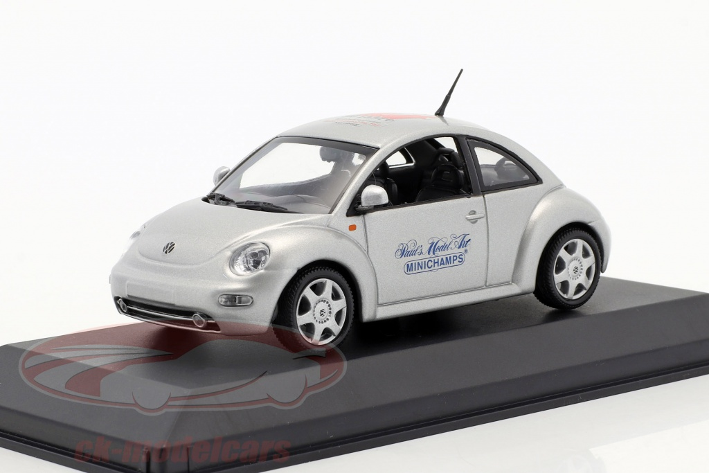 minichamps-1-43-volkswagen-vw-new-beetle-toy-fair-nuernberg-1999-argento-ck46411/