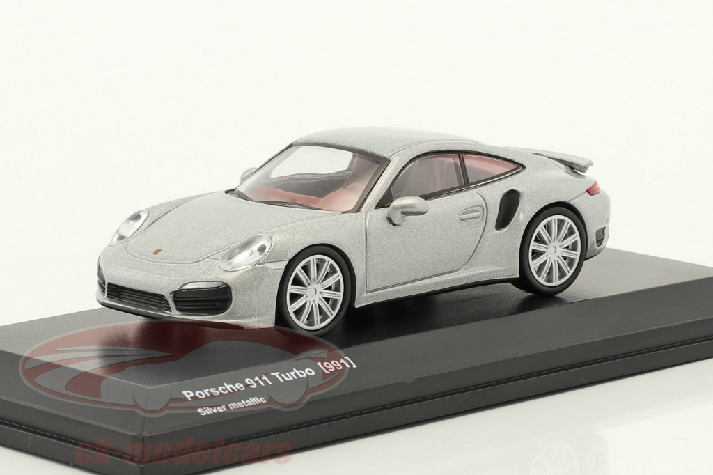 kyosho-1-64-porsche-911-991-turbo-silver-metallic-7048a15/