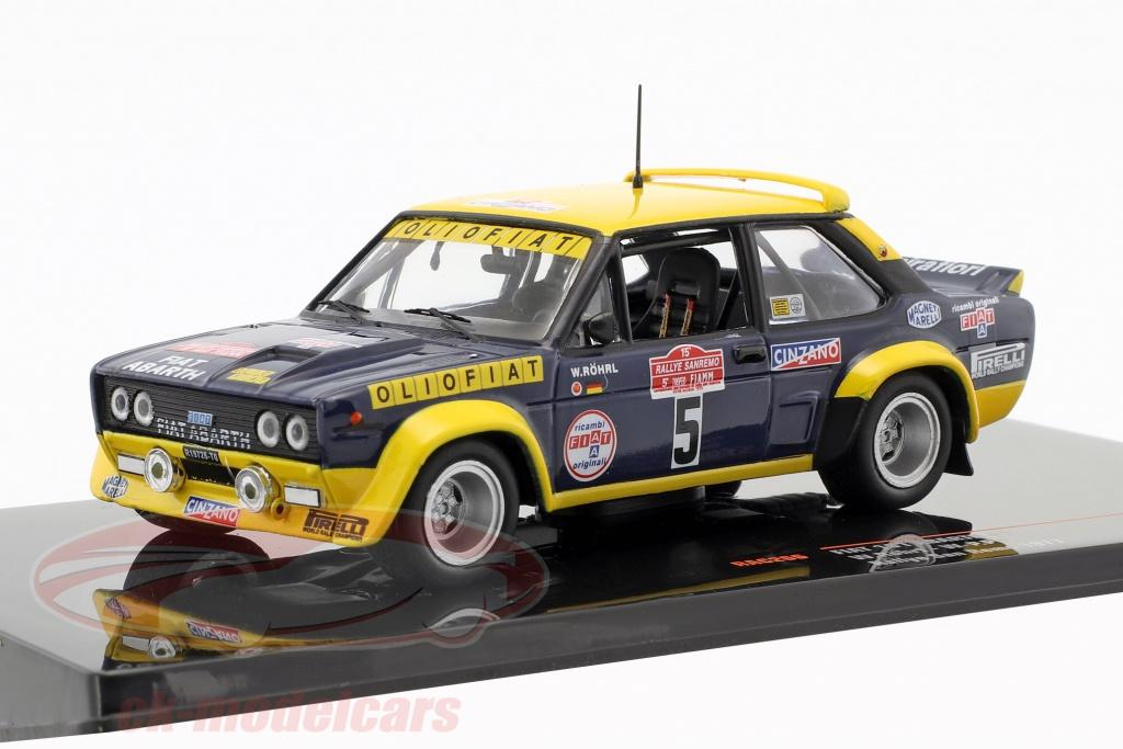 ixo-1-43-fiat-131-abarth-no5-rallye-san-remo-1977-roehrl-pitz-rac266/