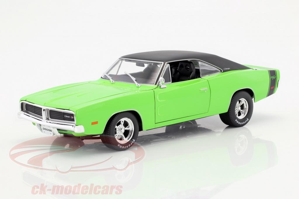 maisto-1-18-dodge-charger-r-t-ano-de-construcao-1969-verde-preto-32612/
