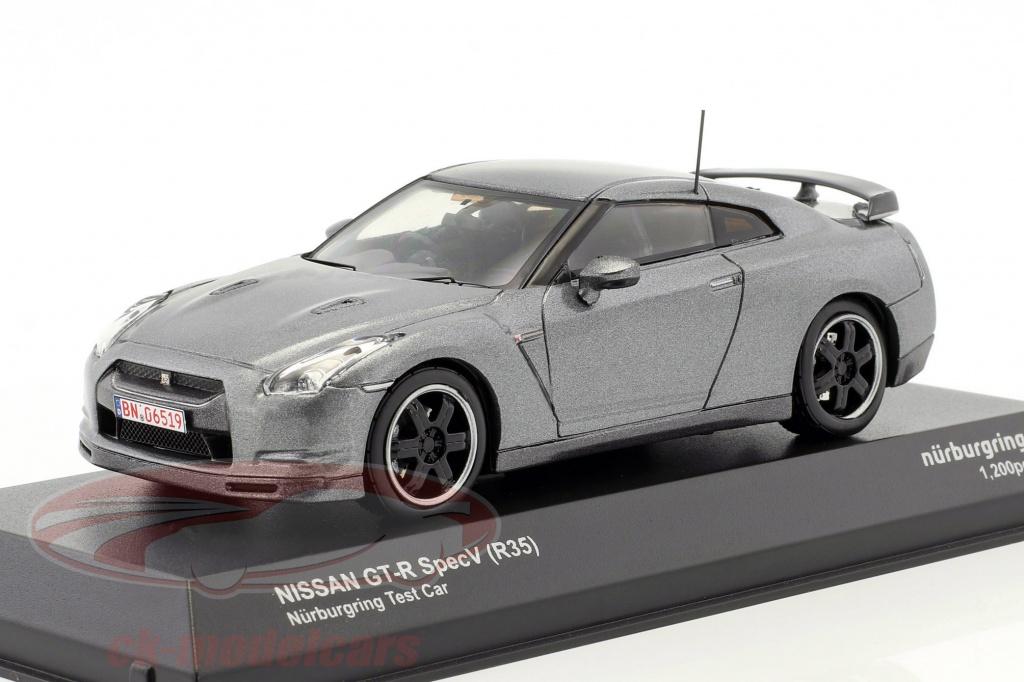 kyosho-1-43-nissan-gt-r-specv-r35-nuerburgring-testcar-gray-metallic-3742nu/