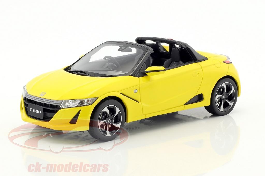 kyosho-1-18-honda-s660-year-2016-yellow-metallic-ksr18016y/