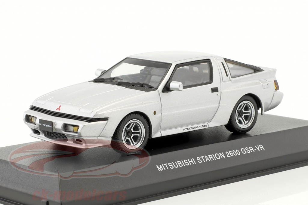 kyosho-1-43-mitsubishi-starion-2600-gsr-vr-year-1988-silver-3712s/