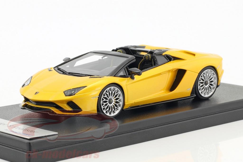 looksmart-1-43-lamborghini-aventador-s-roadster-giallo-metallico-ls482e/