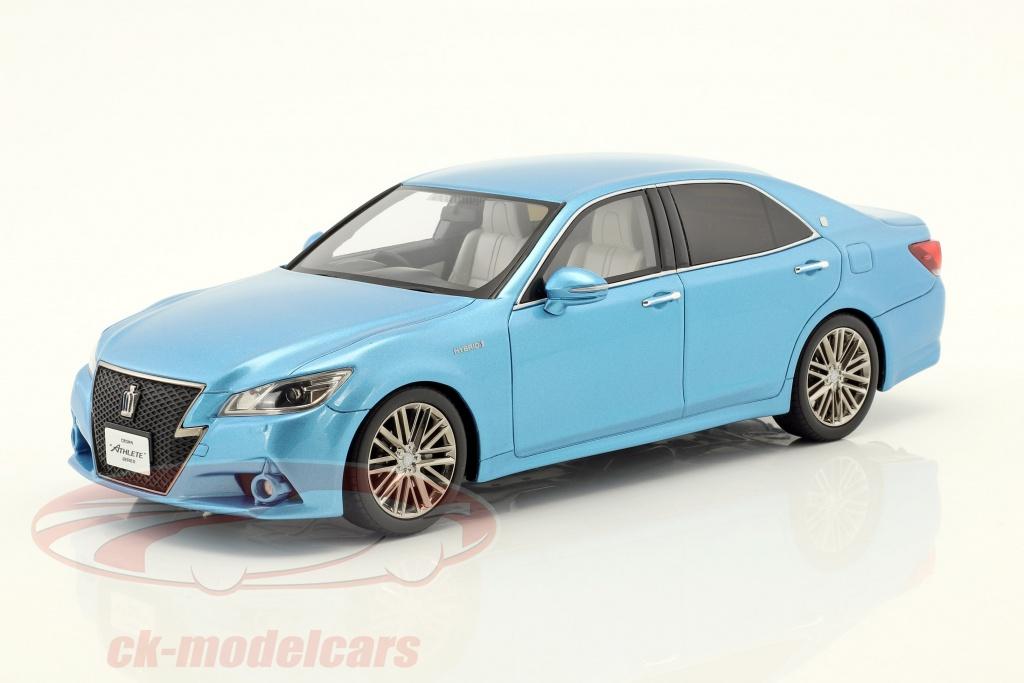 kyosho-1-18-toyota-crown-hybrid-athlete-s-bleu-metallique-ksr18001bl/