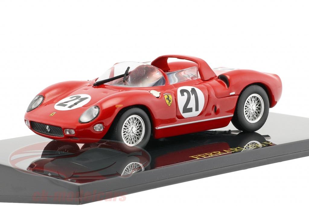 altaya-1-43-ferrari-250p-no21-gagnant-24h-lemans-1963-scarfiotti-bandini-avec-vitrine-ck47122/