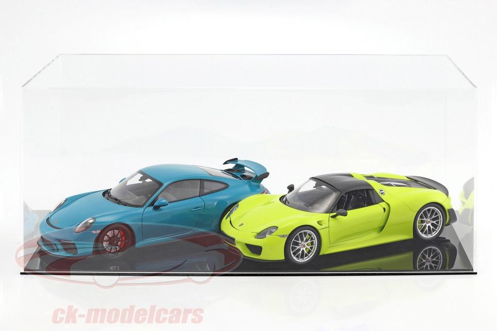 hoog-kwaliteit-vitrine-voor-1-modelcar-in-schaal-1-12-of-2-modelautono39s-in-schaal-1-18-zwart-safe-ck99918005/