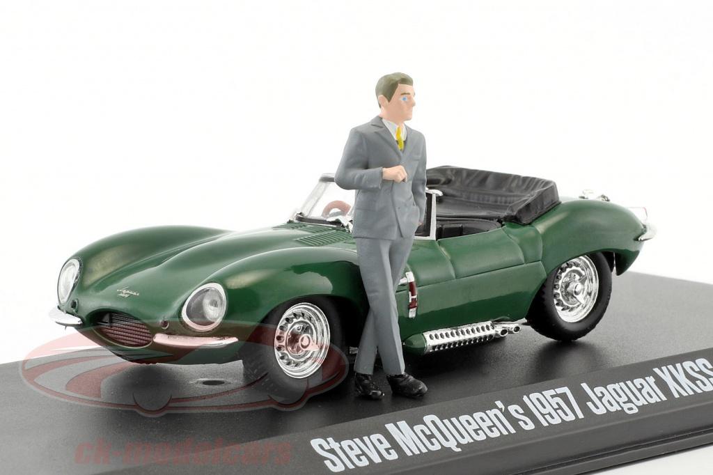 greenlight-1-43-steve-mcqueens-jaguar-xkss-year-1957-green-with-steve-mcqueen-figure-86434/