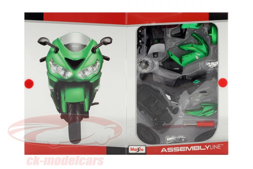maisto-1-12-kawasaki-ninja-zx-14r-montaggio-kit-verde-39197/