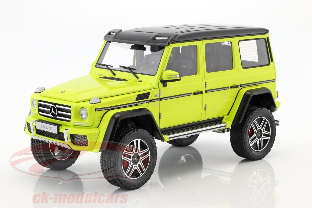 autoart-1-18-mercedes-benz-g-klasse-g500-4x4-annee-de-construction-2016-jaune-76319/