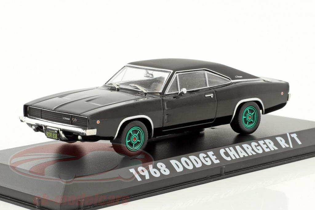 greenlight-1-43-dodge-charger-r-t-steve-mcqueen-film-bullitt-1968-noir-vert-jantes-86432-gruene-version/