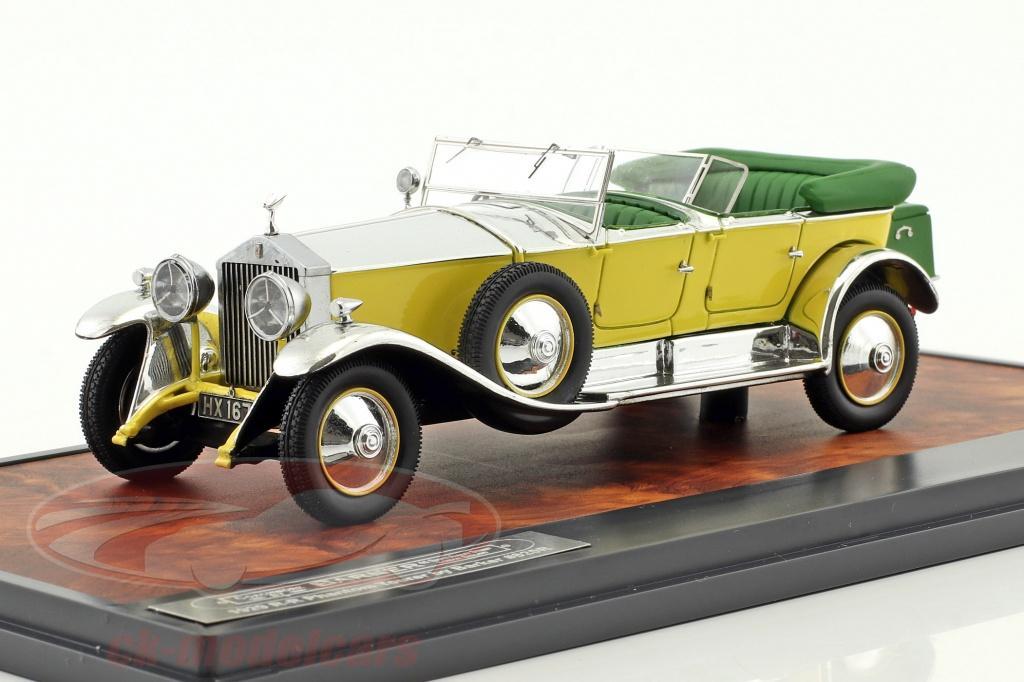 matrix-1-43-rolls-royce-phantom-1-tourer-barker-annee-de-construction-1929-jaune-argent-vert-mx51705-081/