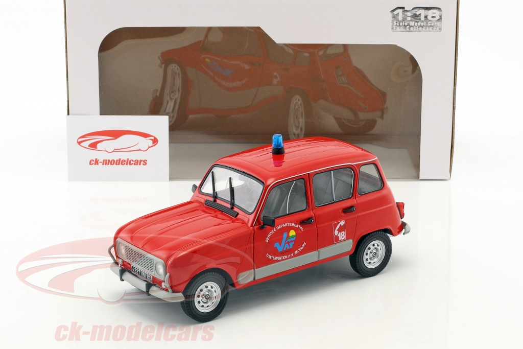 Renault 4 Gtl Fire Department Red 1 18 Solido
